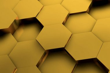 hexagon background 3d illustration