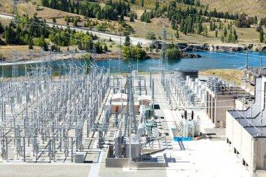 power transmission station near river