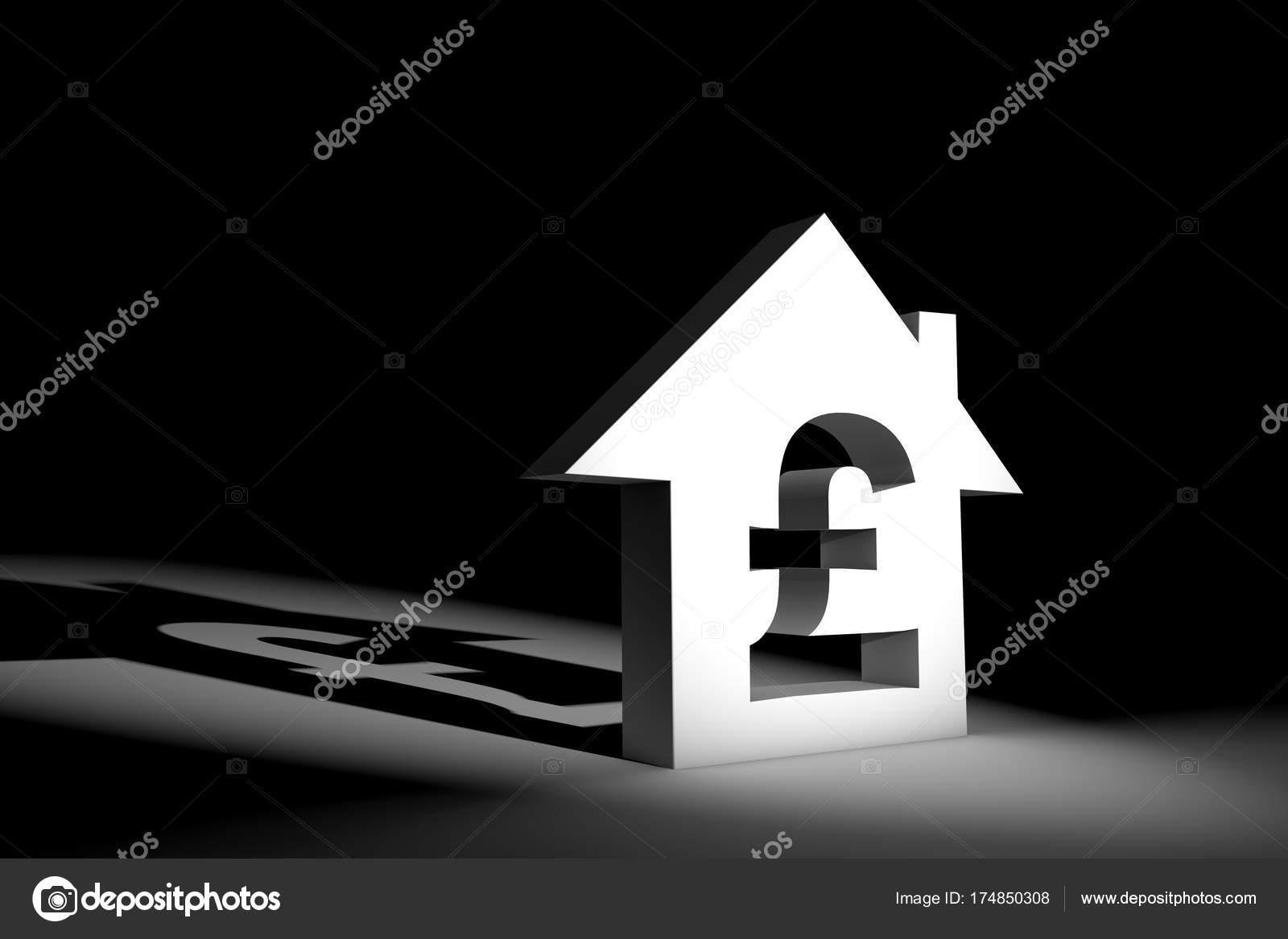 3D Abbildung Hausmodell Mit Währungszeichen U2014 Stockfoto