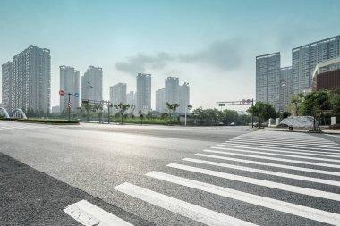 Zebra crossing in the modern city