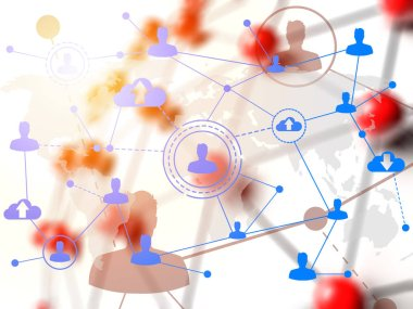 Social networking technologies over red linked sphere