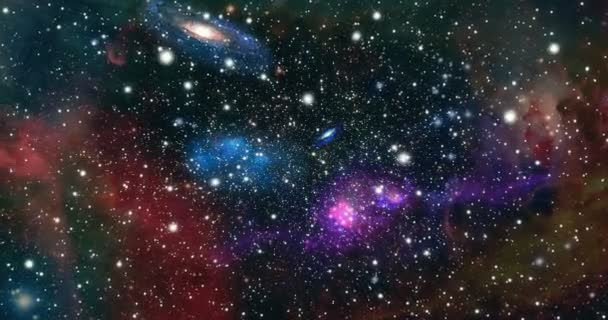 Zoom on space with stars