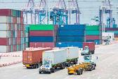 rušný přístav kontejner closeup