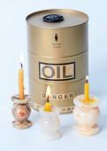 egy hordó olaj körül vallási viasz gyertyák