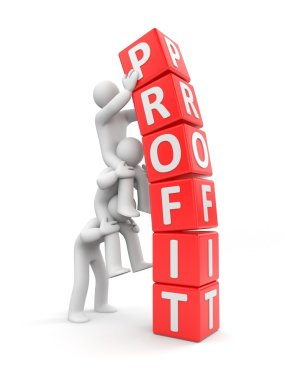 Business profit concept