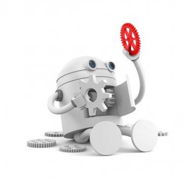 Broken robot with details