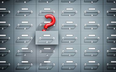 Safe lockers with question