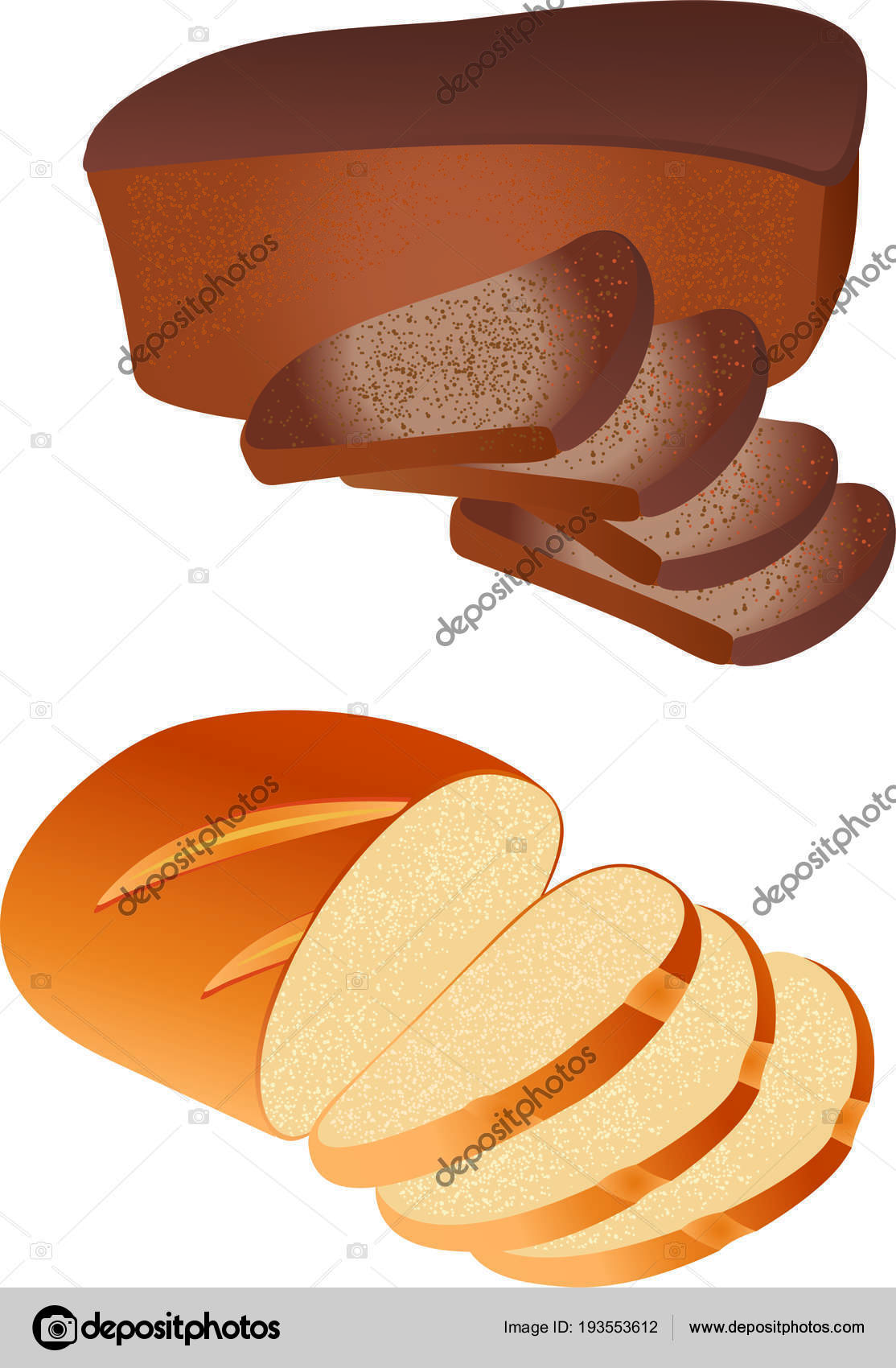 Bread Food Variety Brick Butterbrot Baton Or Baguette Theme For