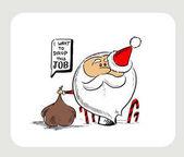 Santa Clause kreslenou postavičku myšlení bubliny - chci k poklesu t