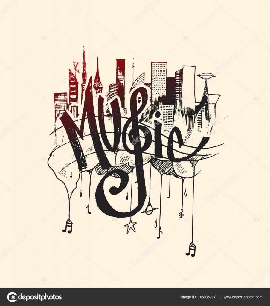 Zusammenfassung Hintergrund Mit Bunten Musik Noten Text