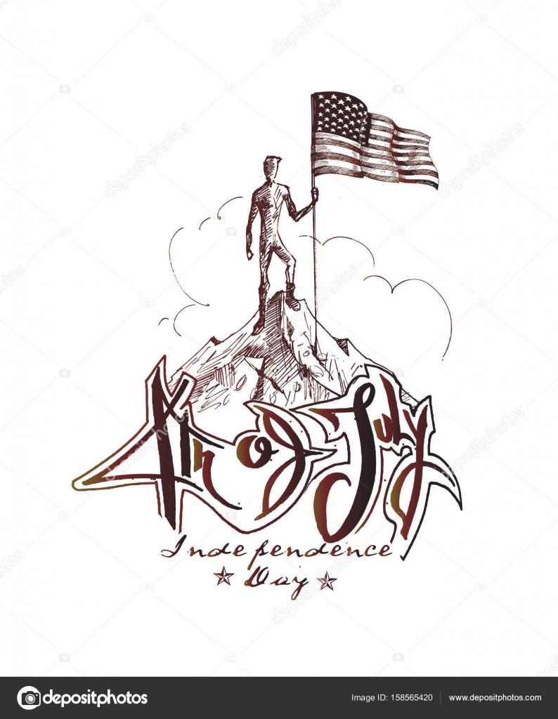 Escalador con bandera de Estados Unidos conquista la cima de la ...