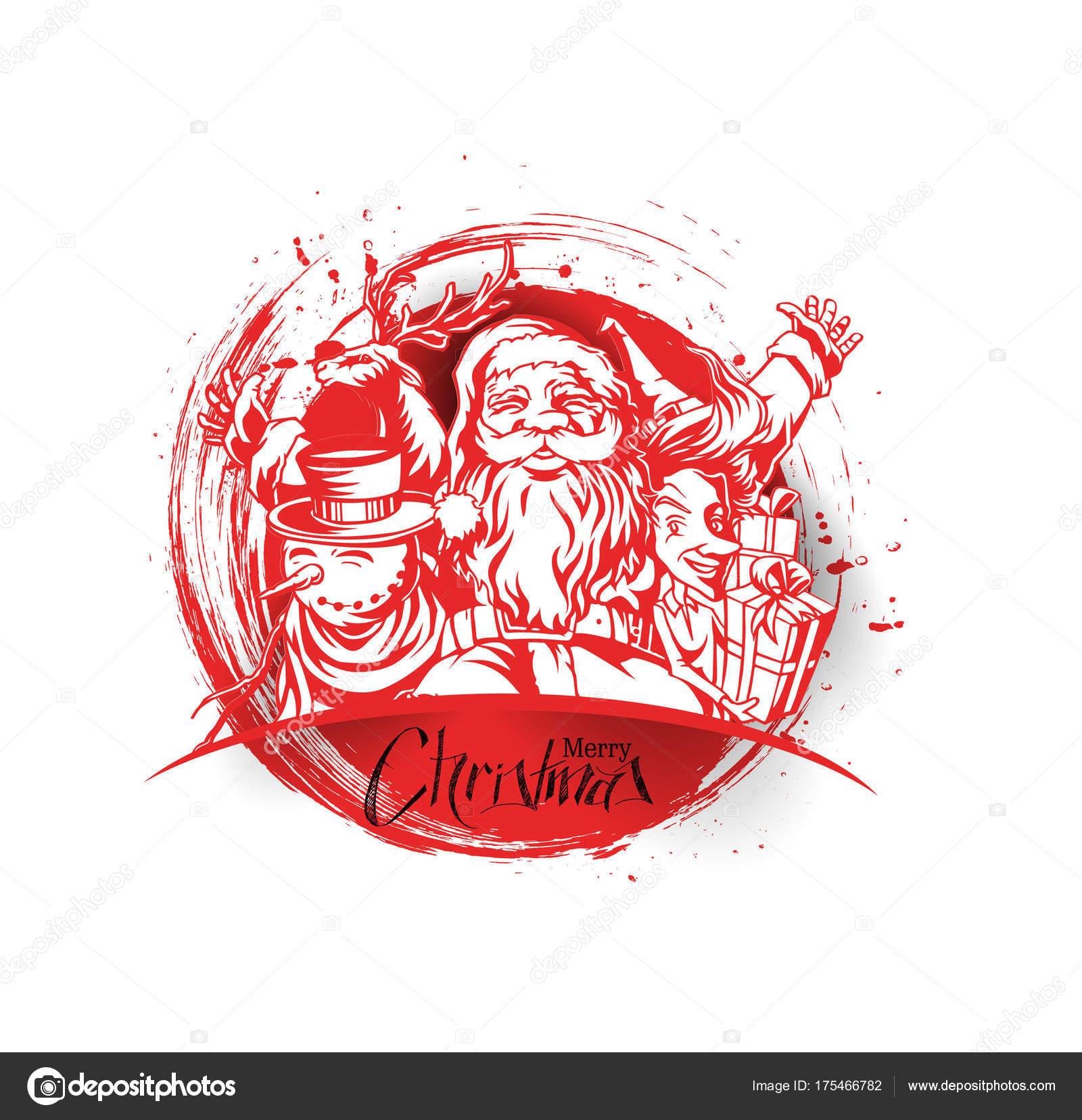 Frohe Weihnachten, Begrüßung und Einladung Karte. Weihnachten ...