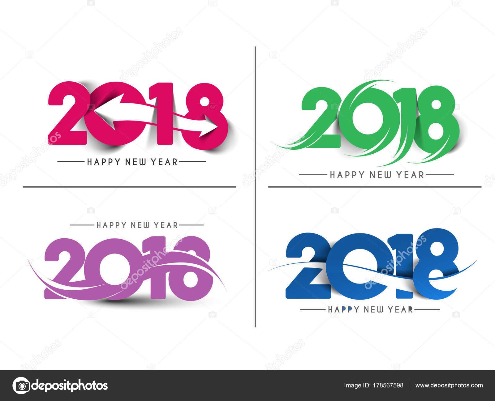 Disenos De Encabezados Para Word Juego De Feliz Ano Nuevo 2018