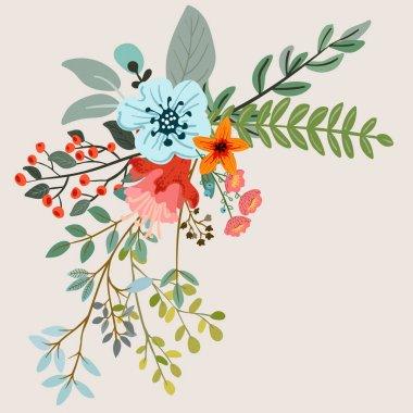"Картина, постер, плакат, фотообои ""композиция трав и цветов картины орхидеи подсолнухи сакура"", артикул 147712495"