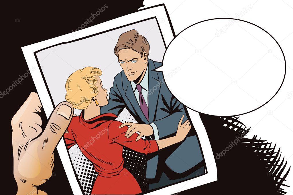 Broken Heart Girl And Boy Talking Stock Vector Bomg11 125926482