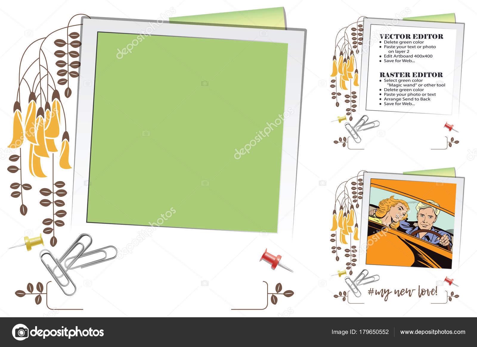 Rahmen für Gästebuch, Banner, Online-Shop, soziales Netzwerk ...