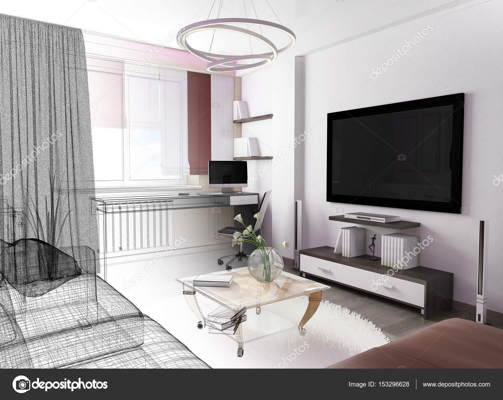 Weisses Wohnzimmer Interieur Stockfoto C Kash76 153296628