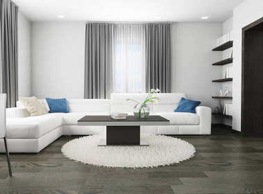 White sofa in modern interior, 3d rendering stock vector