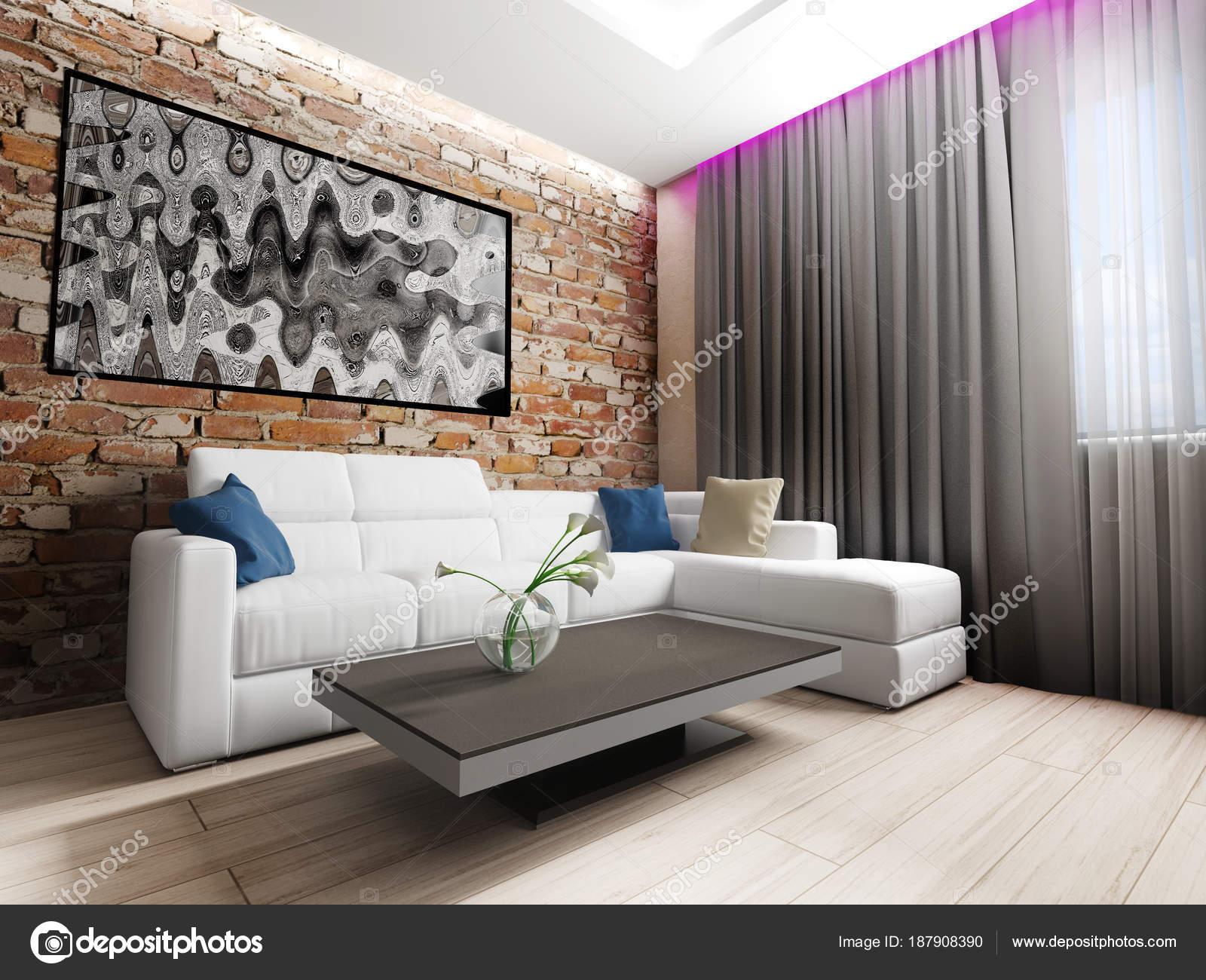 moderne interieur van woonkamer — Stockfoto © kash76 #187908390