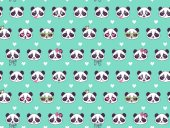 Photo Cute seamless pattern with panda