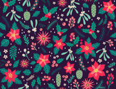 Photo Seamless floral pattern with winter plants.