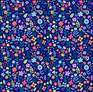 Floral pattern in the small flowers.