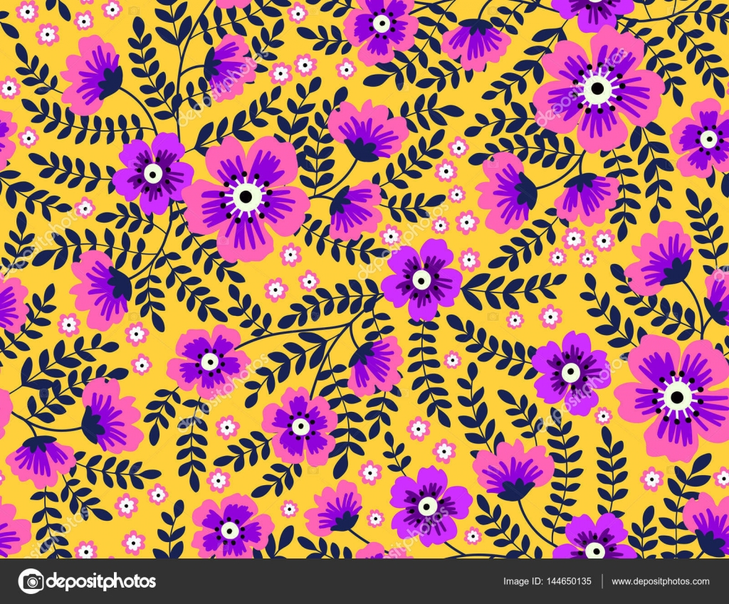 Cute Floral Pattern In The Small Flowers Stock Vector Annd