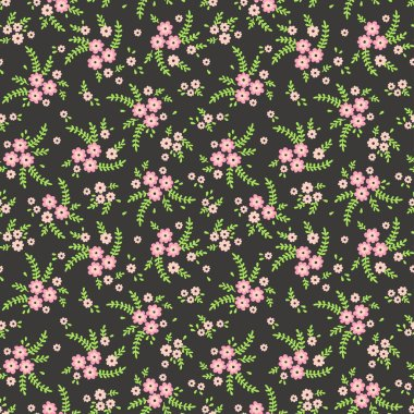 Seamless pattern with flowers for design. Small  flowers  background. Modern floral background. The elegant the template for fashion prints. Ditsy style clip art vector