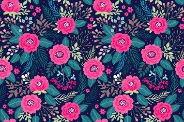 Amazing seamless floral pattern