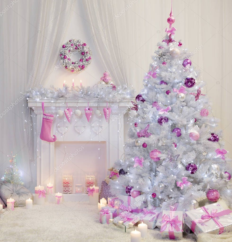 weihnachtsbaum rosa my blog. Black Bedroom Furniture Sets. Home Design Ideas