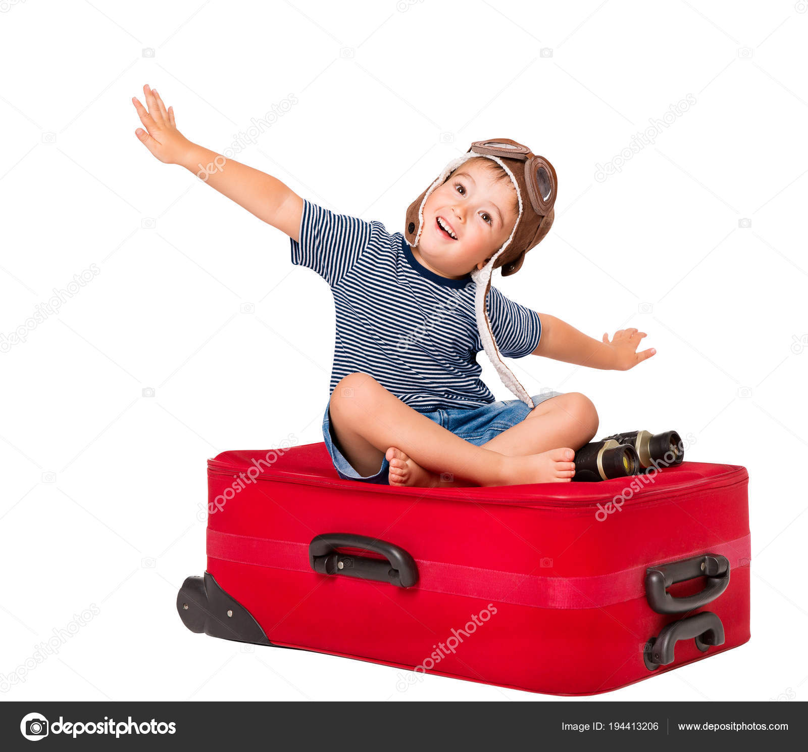 Child Flying on Travel Suitcase 06a8e2dffe5