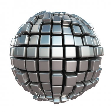Metallic cube sphere