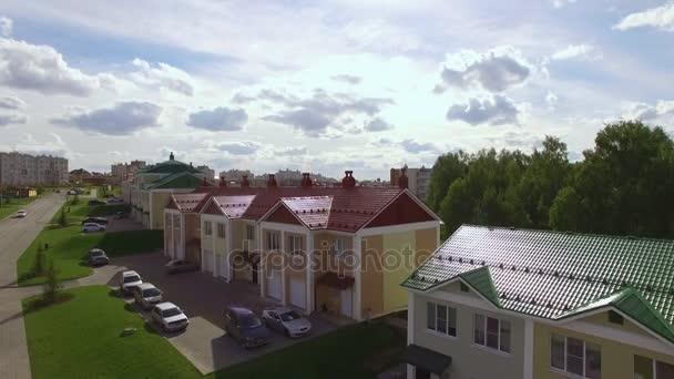 Vlucht Over De Voorsteden Huizen Stockvideo Regissercom 160829266