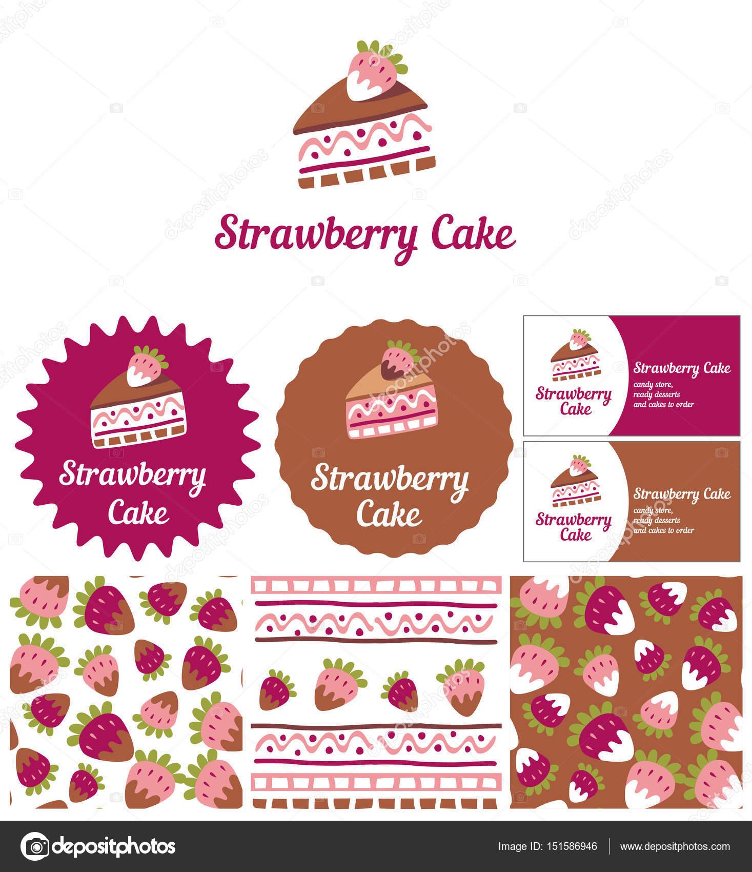 Style Pour Un Magasin De Bonbons Trois Milieux Sans Faille Carte Visite Et Des Etiquettes Vecteur Par Azzzya