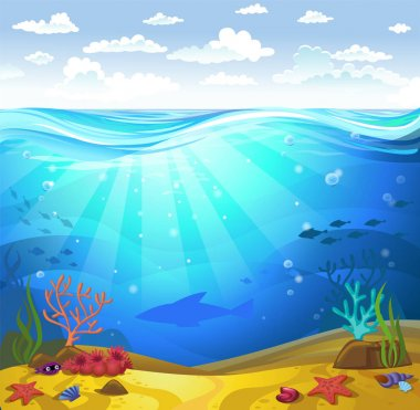 Underwater- Seabed with corals