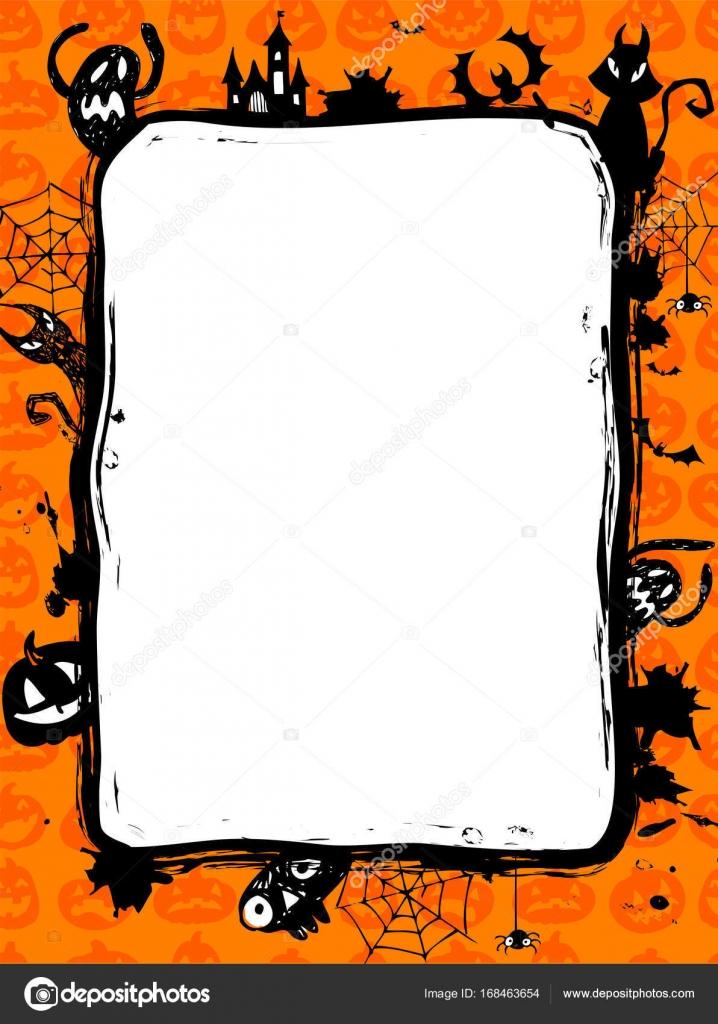 Halloween-Party-Einladung in Vektor Rahmen — Stockvektor © azzzya ...