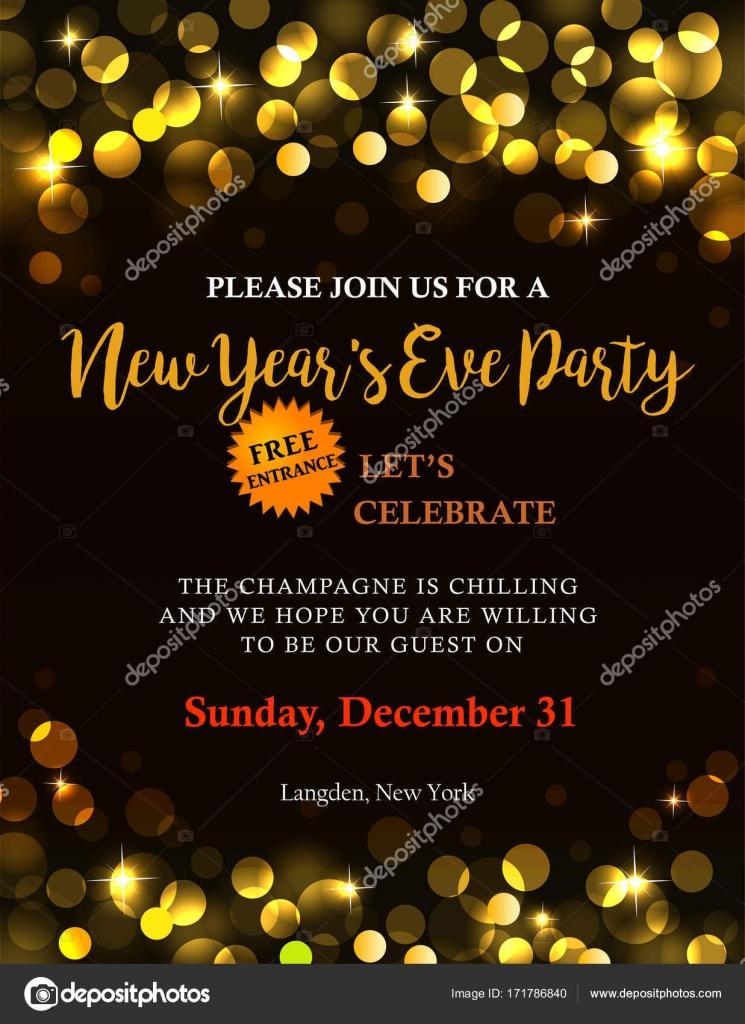 New Year Party Invitation Stock Vector Azzzya 171786840