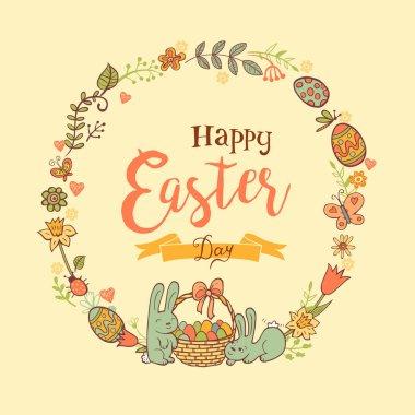 Cute Easter festive frame