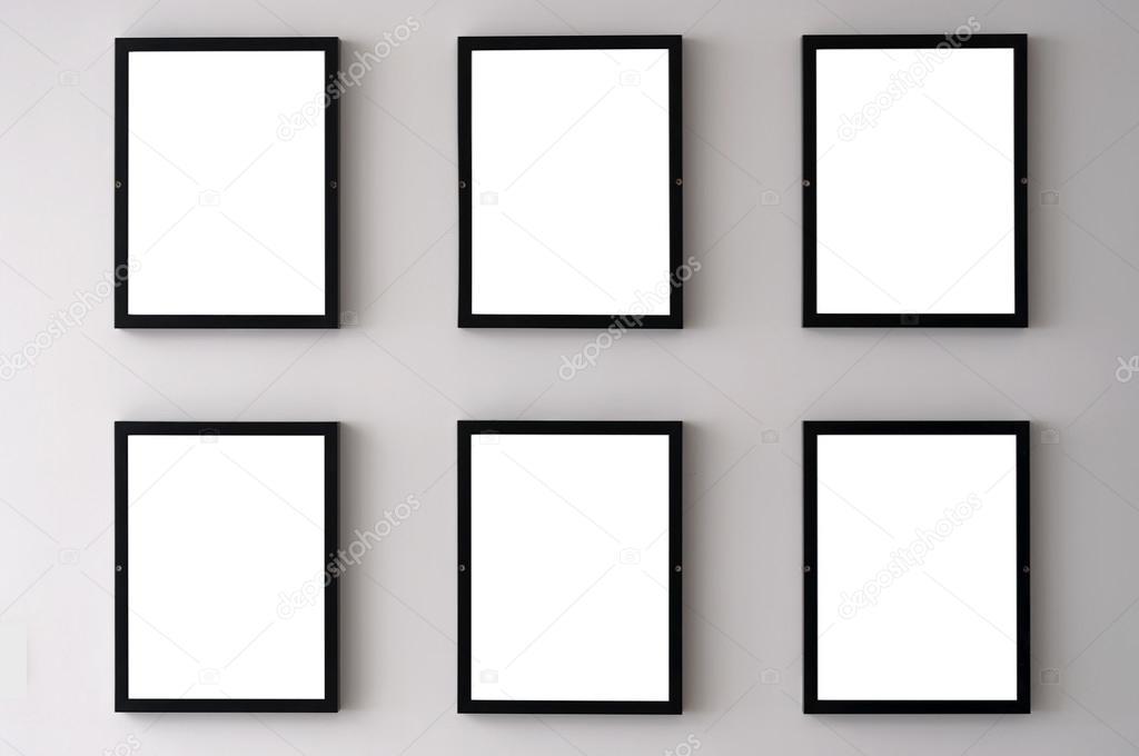 Weiße Wand-Bilderrahmen — Stockfoto © Tonygers #125188894