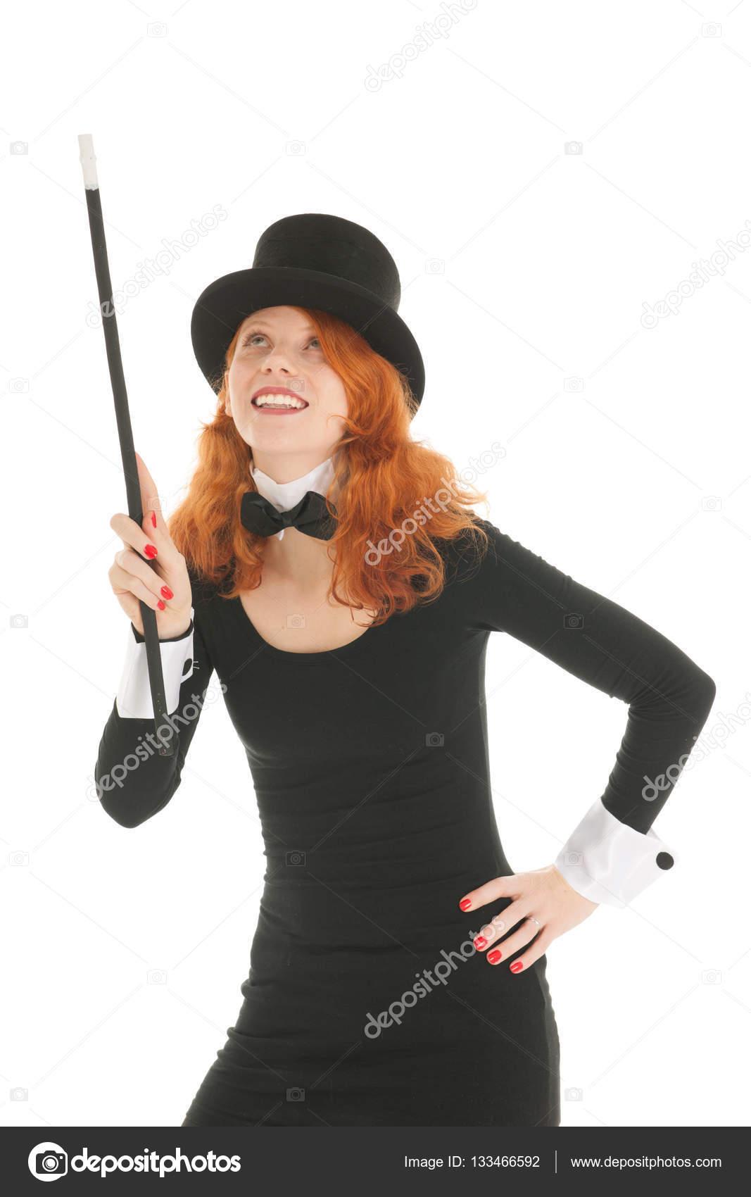 Frau verkleidet für die Partei nach oben — Stockfoto © ivonnewierink ...