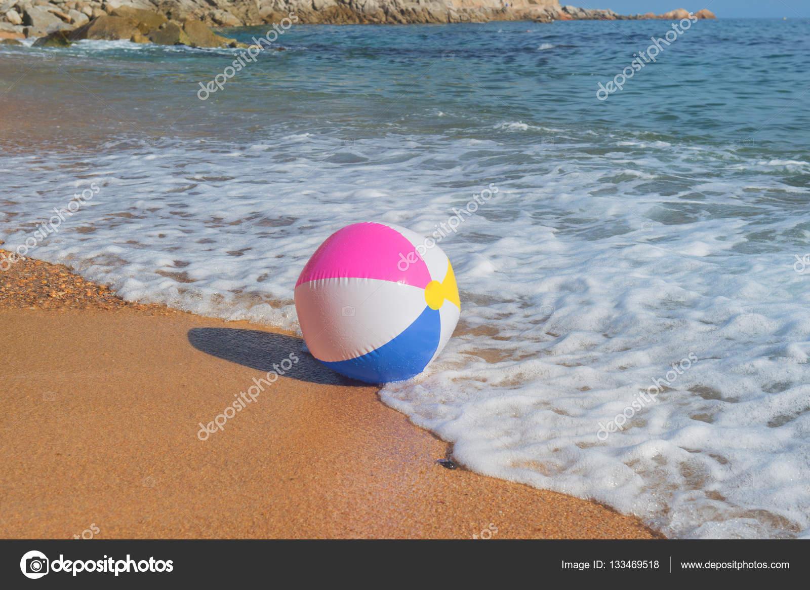 Beach ball in ocean Broken Beach Ball In Sea Stock Photo Shore Points Mom Beach Ball In Sea Stock Photo Ivonnewierink 133469518