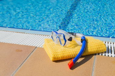 Snorkeling set and towel
