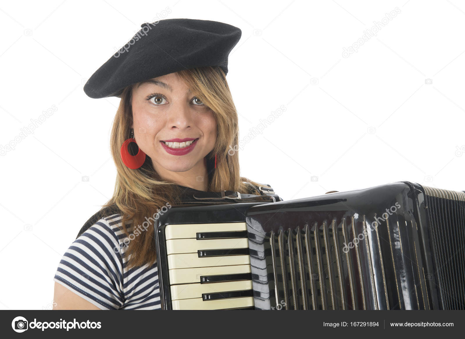 Girl accordion naked, black young successful