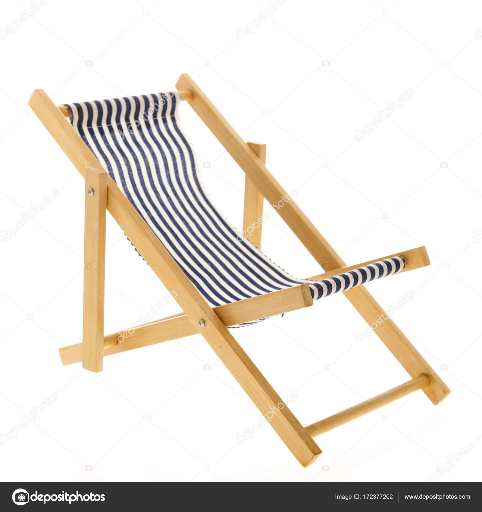 Cool Blue Striped Beach Chair Stock Photo C Ivonnewierink Caraccident5 Cool Chair Designs And Ideas Caraccident5Info
