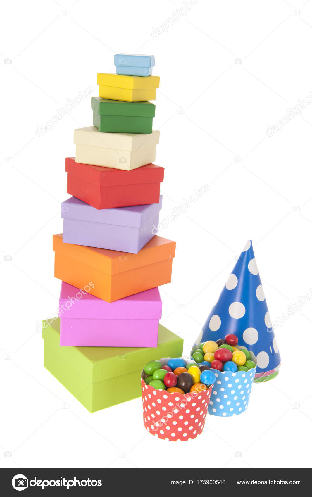 Birthday Gifts And Candy For The Party Stock Image