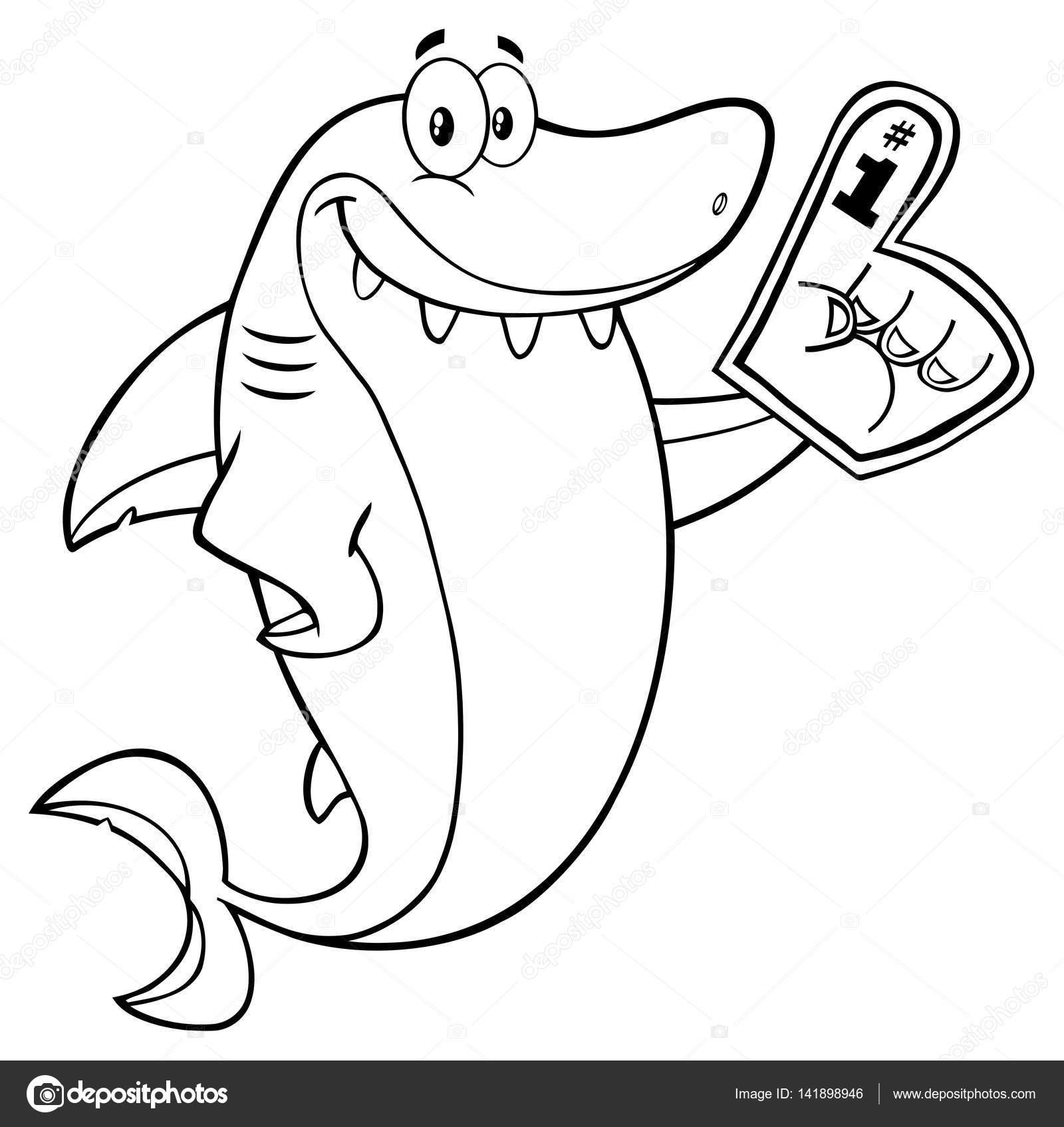 Personagem De Desenho Animado De Tubarão