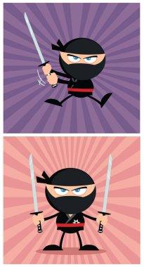 Ninja Warrior Cartoon Character