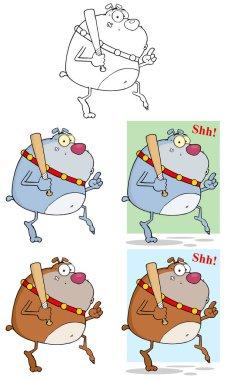 Bulldogs Cartoon Character