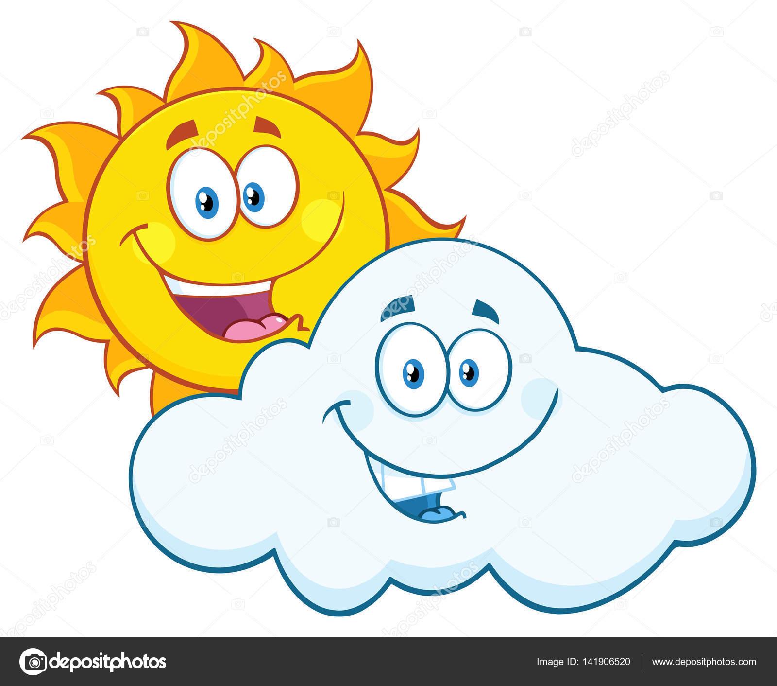 Personaje de dibujos animados de sol vector de stock - Imagenes de nubes infantiles ...