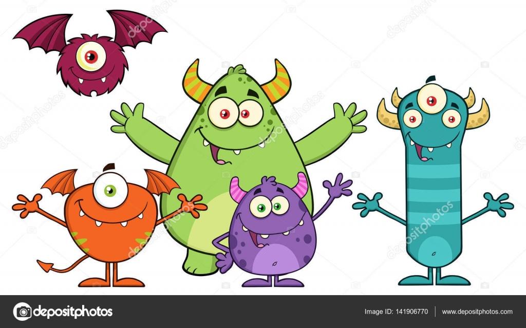 personajes de dibujos animados de monstruos archivo imágenes